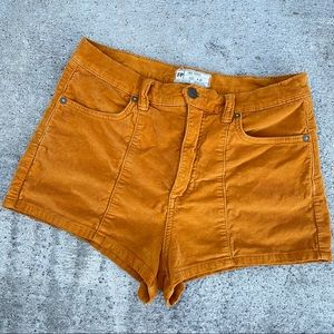 Free people curdoroy mustard shorts size 28